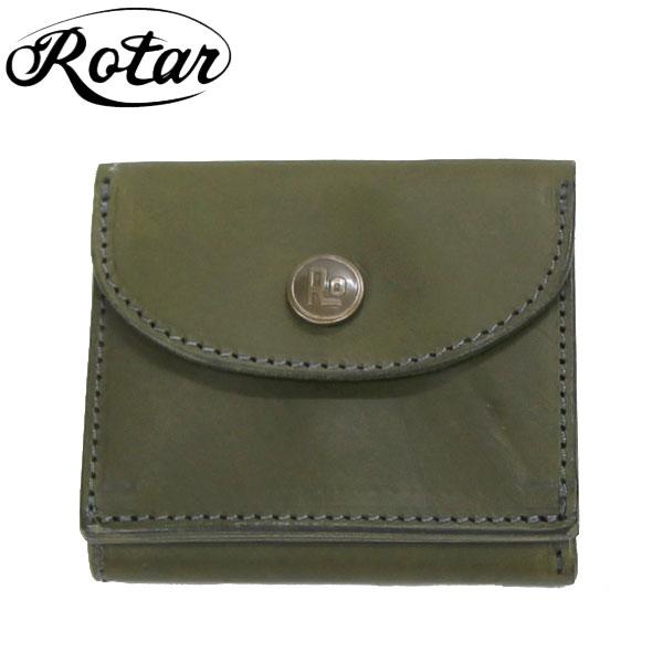 【ROTAR/ローター】 Minimal short wallet 牛革財布 /オリーブ