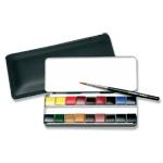 ラウニー専門家用固形透明水彩絵具 ミニチュアポケット 18色セット 18P