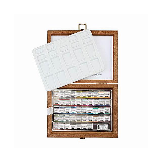シュミンケ ホラダム固形水彩絵具 48色木箱セット 74548