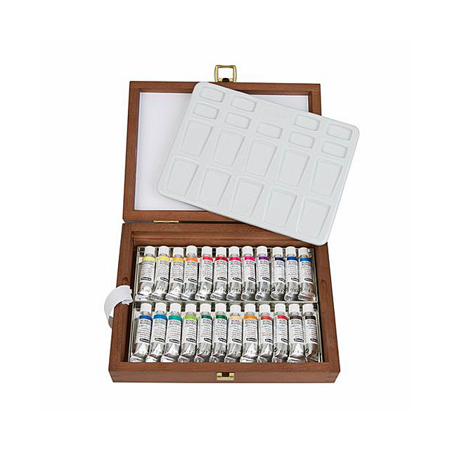 シュミンケ ホラダム透明水彩絵具 24色木箱セット 74224
