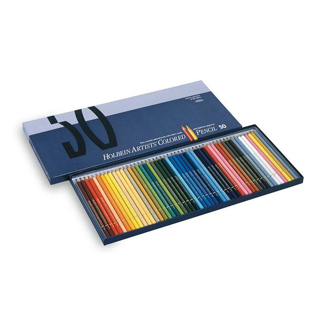 ホルベイン アーチスト色鉛筆 50色セット(紙函入)