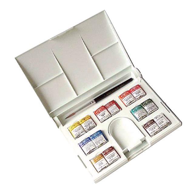 W&N PWC固形水彩絵具 ハーフパン 14色コンパクトセット(旧名:アーチストウォーターカラー)