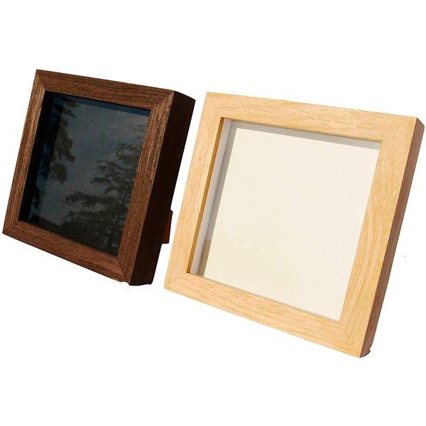 どんな空間にも馴染むナチュラルな木製フレーム 木製 3D 立体額 新作 授与 ボックスフレーム 立体 アートボックス シャドーボックス 正方形 ナチュラル 標本箱 フレーム
