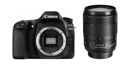 【新品】Canon キヤノン EOS 80D(W)・EF-S18-135 IS USM レンズキット