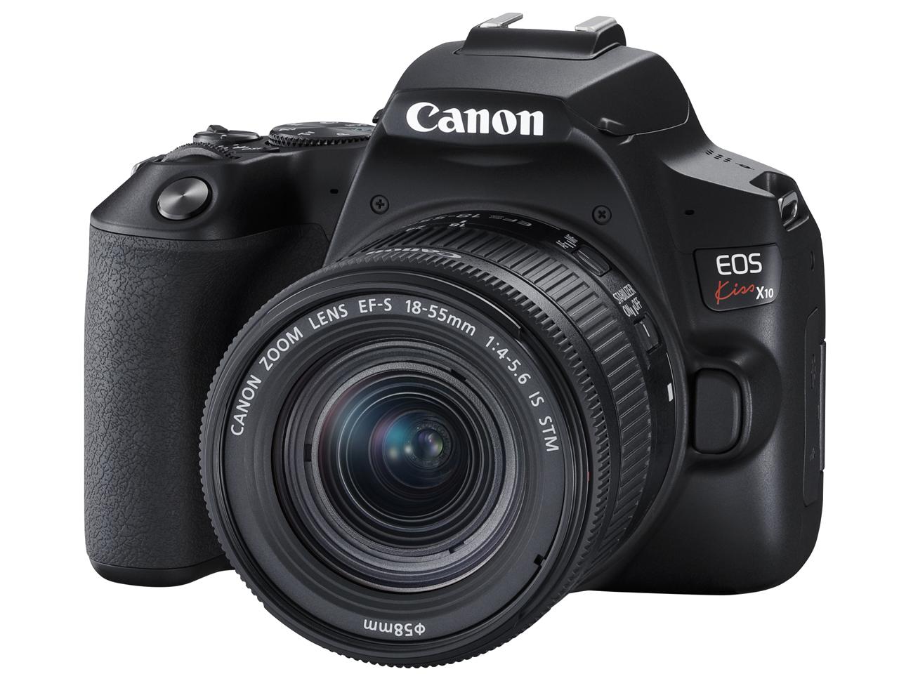 【新品】キヤノン Canon EOS Kiss X10(ブラック)・EF-S18-55 IS STM レンズキット