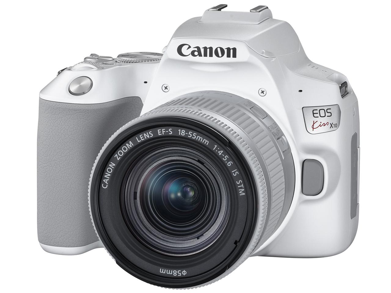 【新品】キヤノン Canon EOS Kiss X10(ホワイト)・EF-S18-55 IS STM レンズキット