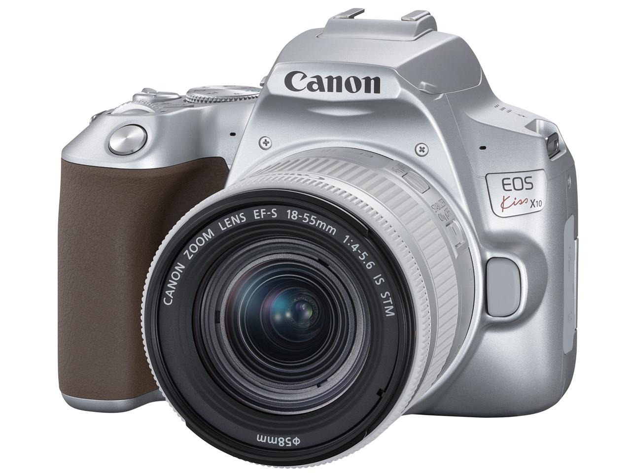 【新品】キヤノン Canon EOS Kiss X10(シルバー)・EF-S18-55 IS STM レンズキット