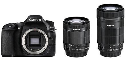 【新品】Canon キヤノン EOS 80D(W)・ダブルズームキット