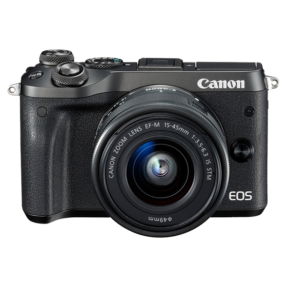 Canon キヤノン EOS M6・EF-M15-45 IS STMレンズキット BK(ブラック) ミラーレスカメラ