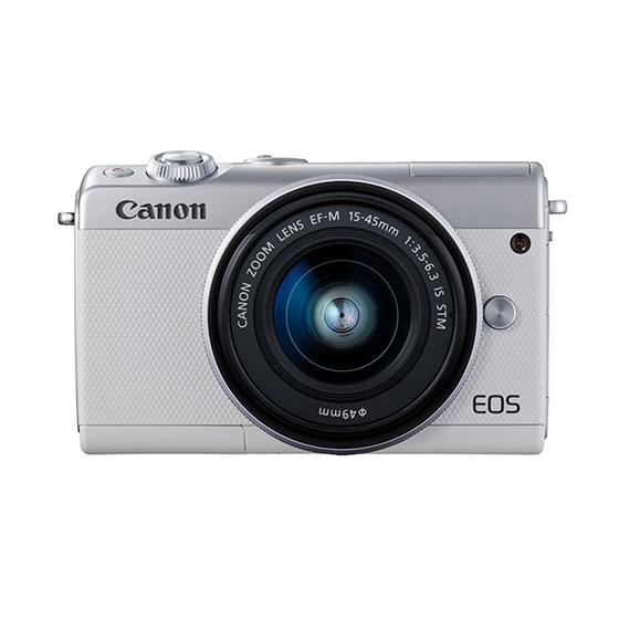 Canon キヤノン EOS M100・EF-M15-45 IS STMレンズキット WH(ホワイト) ミラーレスカメラ