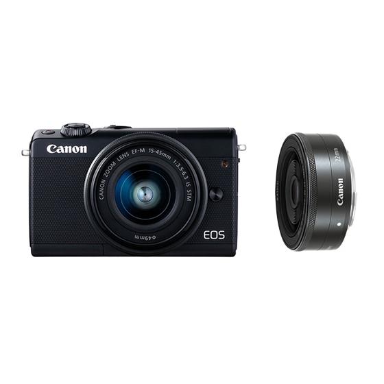 Canon キヤノン EOS M100・ダブルレンズキット BK(ブラック) ミラーレスカメラ