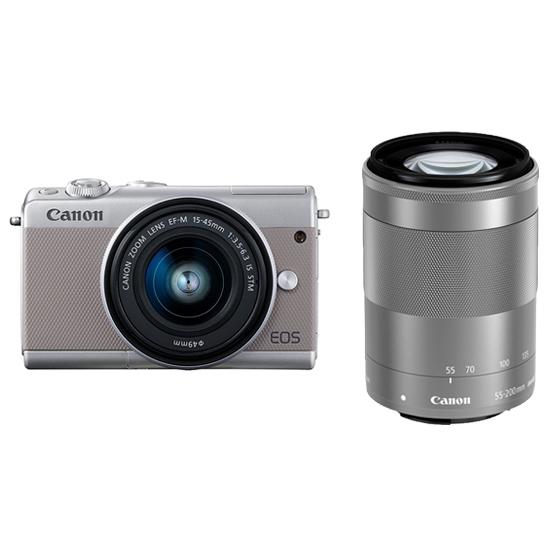 Canon キヤノン EOS M100・ダブルズームキット GY(グレー) ミラーレスカメラ