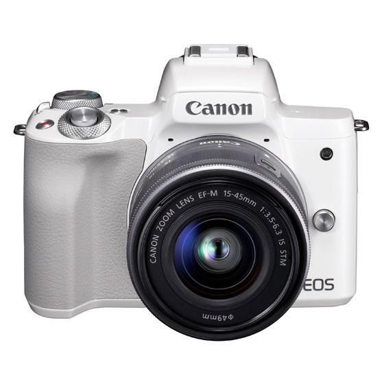 Canon キヤノン EOS Kiss M・EF-M15-45 IS STM レンズキット(ホワイト) ミラーレスカメラ