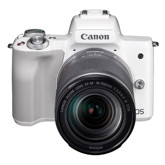 Canon キヤノン EOS Kiss M・EF-M18-150 IS STM レンズキット(ホワイト) ミラーレスカメラ