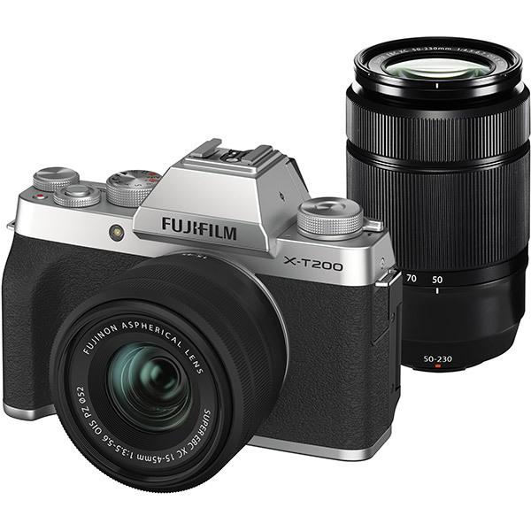 フジフイルム FUJIFILM X-T200 ダブルズームレンズキット [シルバー] (XC15-45mmF3.5-5.6 OIS PZ & XC50-230mmF4.5-6.7 OIS II 付)