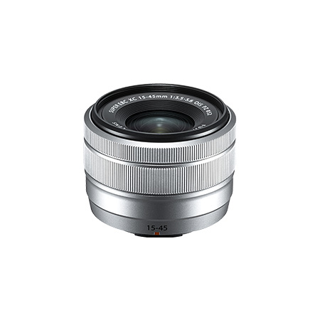 フジフイルム FUJIFILM フジノンレンズ XC15-45mmF3.5-5.6 OIS PZ シルバー