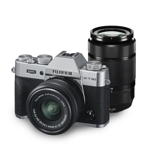 フジフイルム FUJIFILM X-T30 ダブルズームレンズキット [シルバー] (XC15-45mmF3.5-5.6 OIS PZ & XC50-230mmF4.5-6.7 OIS II 付)