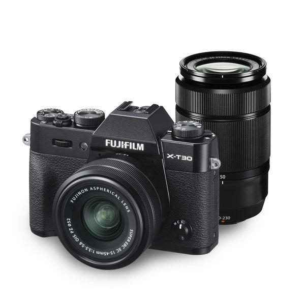 フジフイルム FUJIFILM X-T30 ダブルズームレンズキット [ブラック] (XC15-45mmF3.5-5.6 OIS PZ & XC50-230mmF4.5-6.7 OIS II 付)