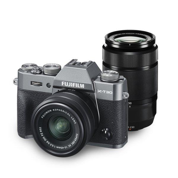 フジフイルム FUJIFILM X-T30 ダブルズームレンズキット [チャコールシルバー] (XC15-45mmF3.5-5.6 OIS PZ & XC50-230mmF4.5-6.7 OIS II 付)