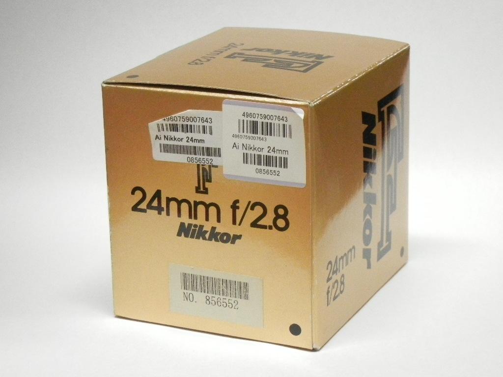 【新品】ニコン(nikon) AI Nikkor 24mm f/2.8S【箱にキズ・汚れあり】