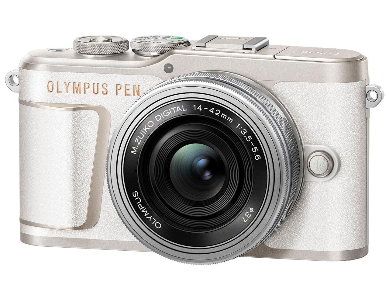 OLYMPUS オリンパス PEN E-PL10 14-42mm EZレンズキット (ホワイト)ミラーレス一眼