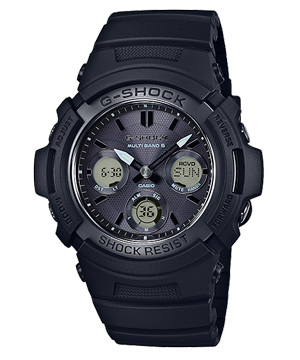 【新品】G-SHOCK AWG-M100SBB-1AJF ALL BLACK CASIO カシオ
