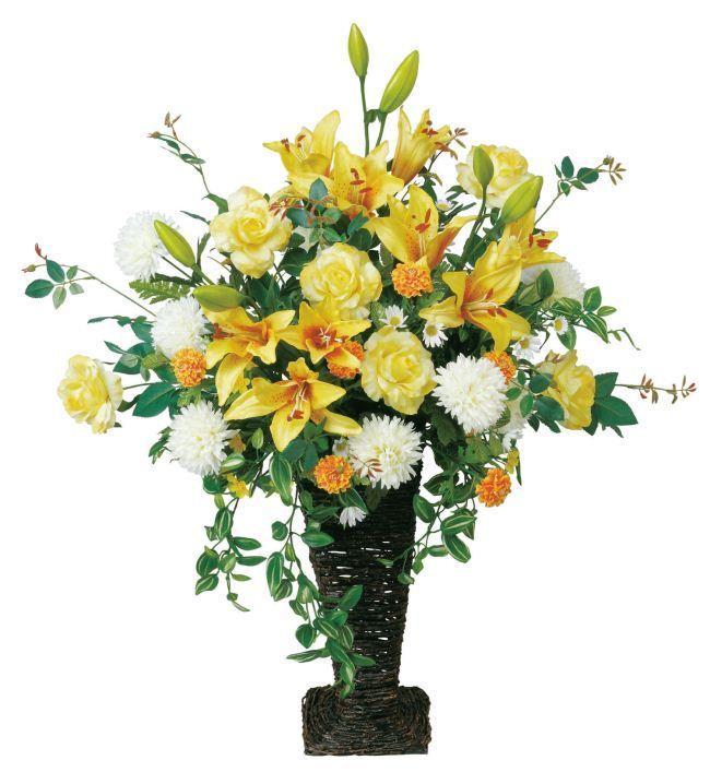 光触媒造花アレンジ 光の楽園 ハニーレモン 3A0705-300