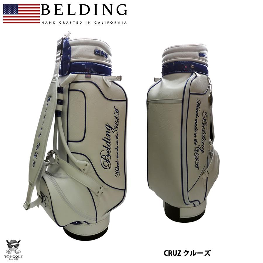 BELDING ベルディング キャディバッグ クルーズ ホワイト/ロイヤル 9.5型(HBCB-950078)