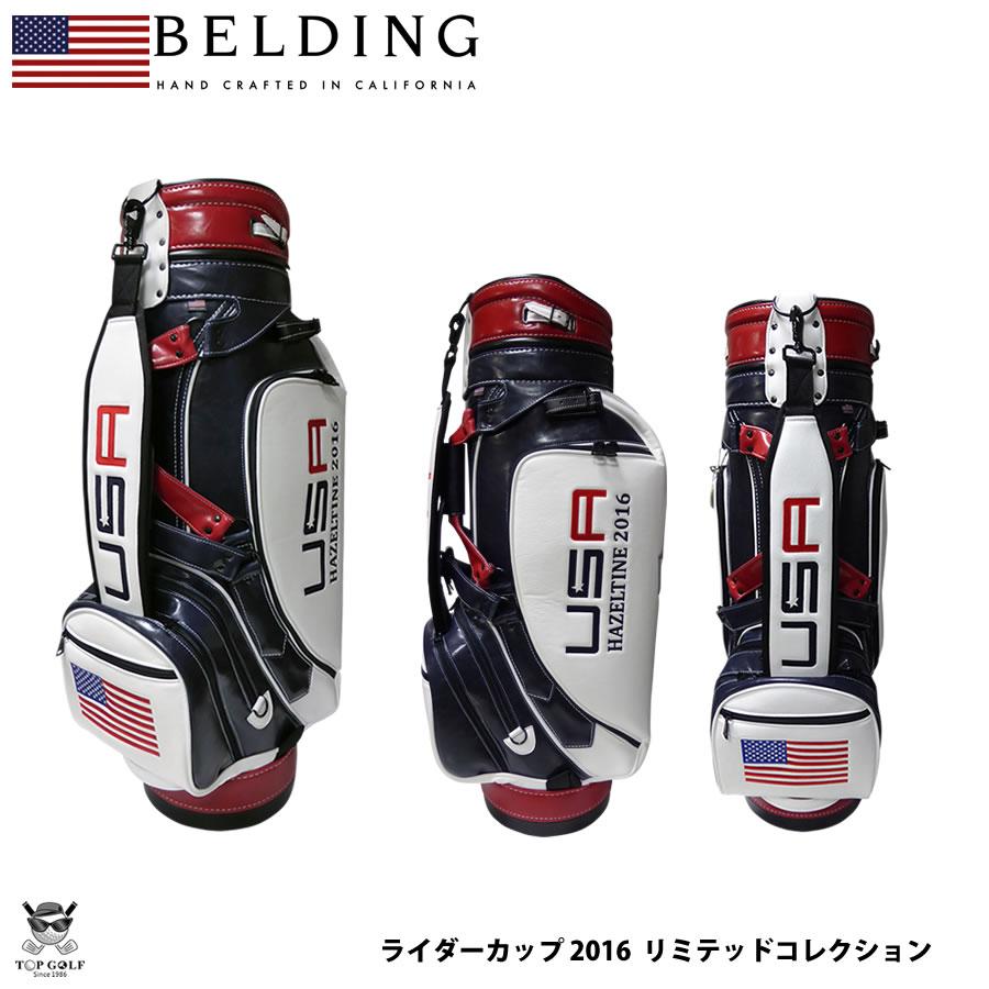 BELDING ベルディング キャディバッグ ライダーカップ 2016 リミテッド コレクション PXL 1st PROTOTYPE マリーン/ホワイト/フレーム 9.5型(HBCB-950077R)