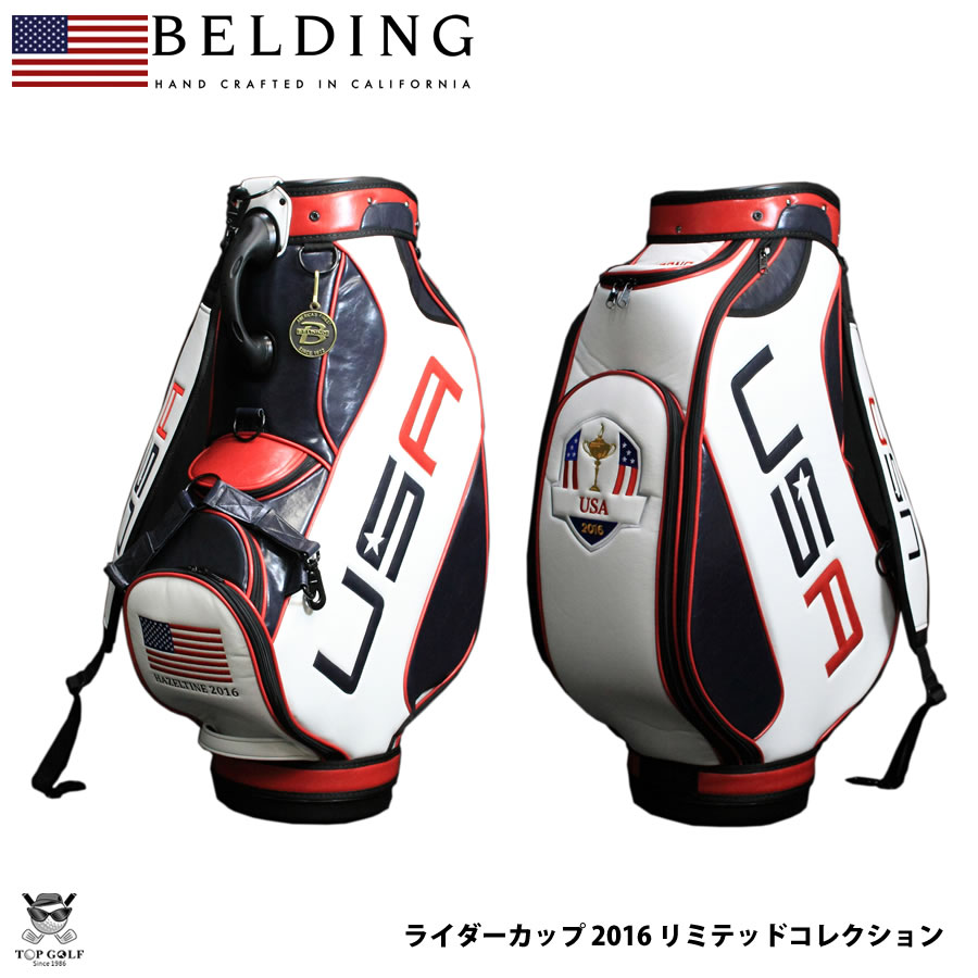 Belding Ryder Cup 2017 Usa Team Offical Bag Amerika Official Hbcb 950082 Caddy Mens Cool Gift Golf Name