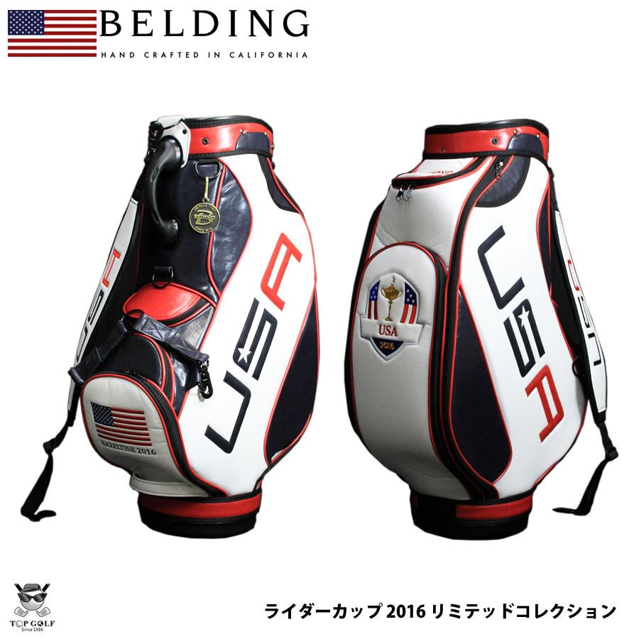 こだわり派ゴルファー御用達 かっこいい キャディー バッグ ゴルフ おしゃれ プレゼント 名入れ限定10本のみ日本入荷 限定 レア キャディバッグ 人気ショップが最安値挑戦 BELDING リミテッドコレクション ライダーカップ HBCB-950082 2016 オフィシャル ベルディング SEAL限定商品 9.5型