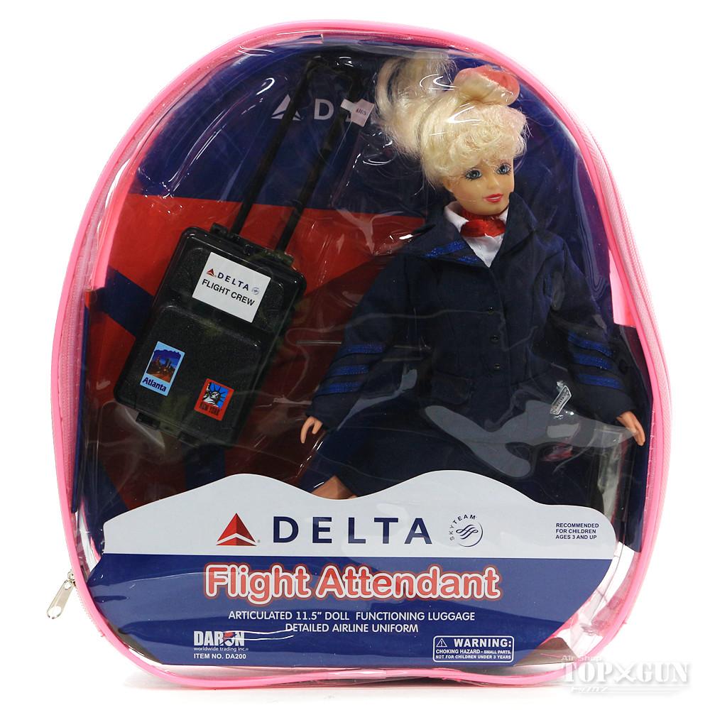 航空機グッズ DARON フライトアテンダント 2020 新作 ドール エアラインズ DA200 店舗 デルタ