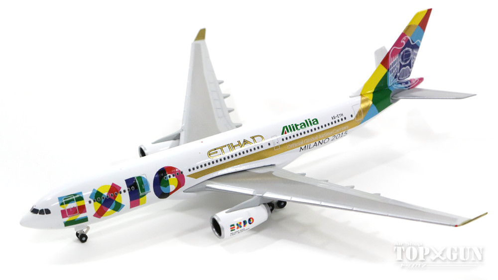 エアバス A330-200 エティハド航空 特別塗装 「EXPO 2015」 A6-EYH 1/500 2016年12月8日発売 herpa/ヘルパウィングス飛行機/模型/完成品 [529501]