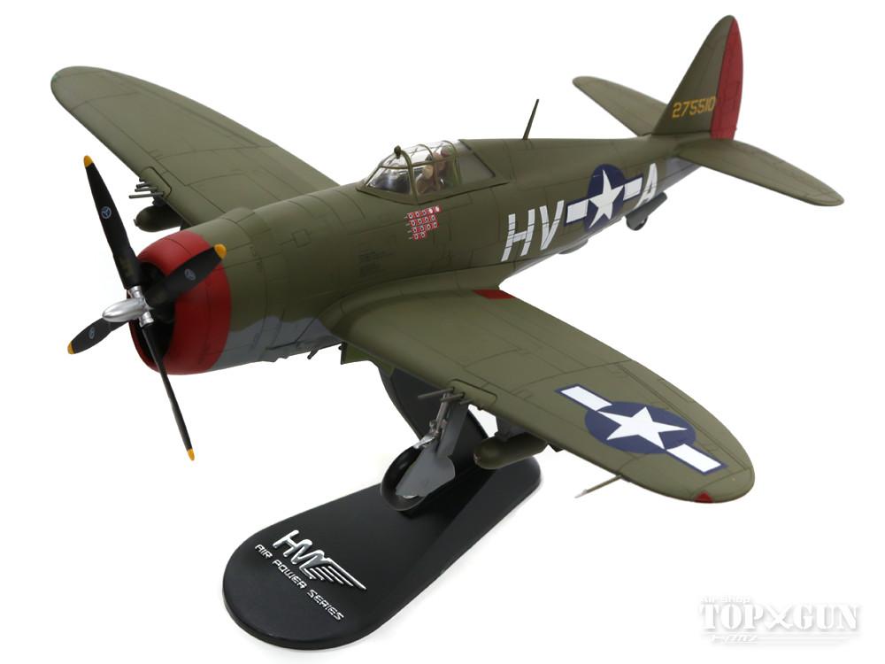 P-47D サンダーボルト アメリカ陸軍航空軍 第56戦闘航空群 第61戦闘飛行隊 フランシス・ガブレスキ中佐機 ヘイルスワース基地・イングランド 44年 #42-75510 1/48 2016年10月5日発売 Hobby Master/ホビーマスター飛行機/模型/完成品 [HA8453]