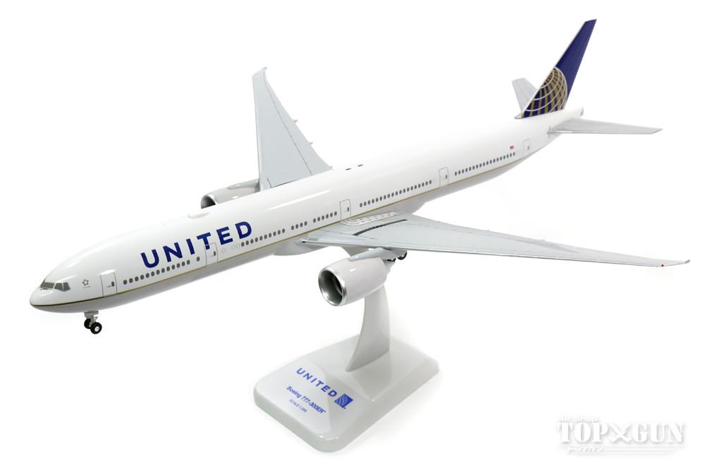 ボーイング 777-300ER ユナイテッド航空 WiFiアンテナ付 (ギア/スタンド付属) 1/200 ※プラ製 2016年12月14日発売 hogan Wings/ホーガンウイングス飛行機/模型/完成品 [10567GR]