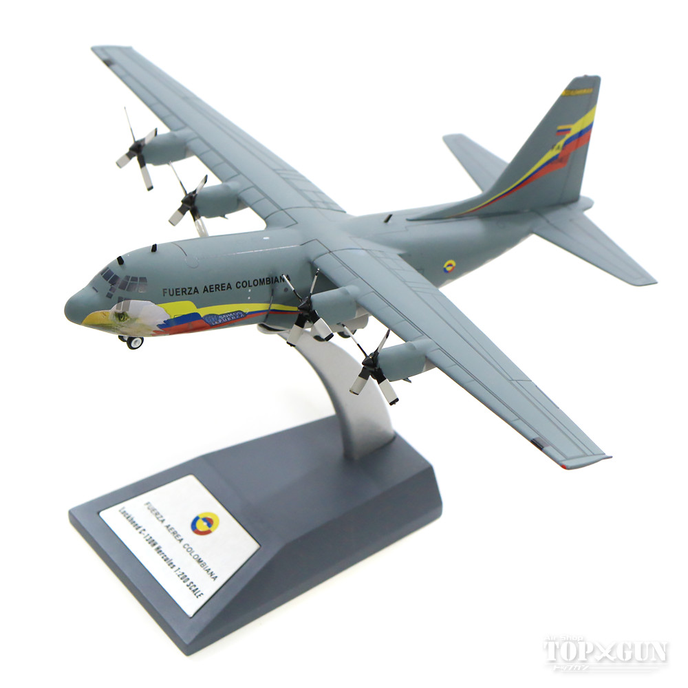 C-130H (L-382) コロンビア空軍 FAC1004 (スタンド付属) 1/200 2018年6月29日発売 InFlight200/インフライト200飛行機/模型/完成品 [IF1301217]