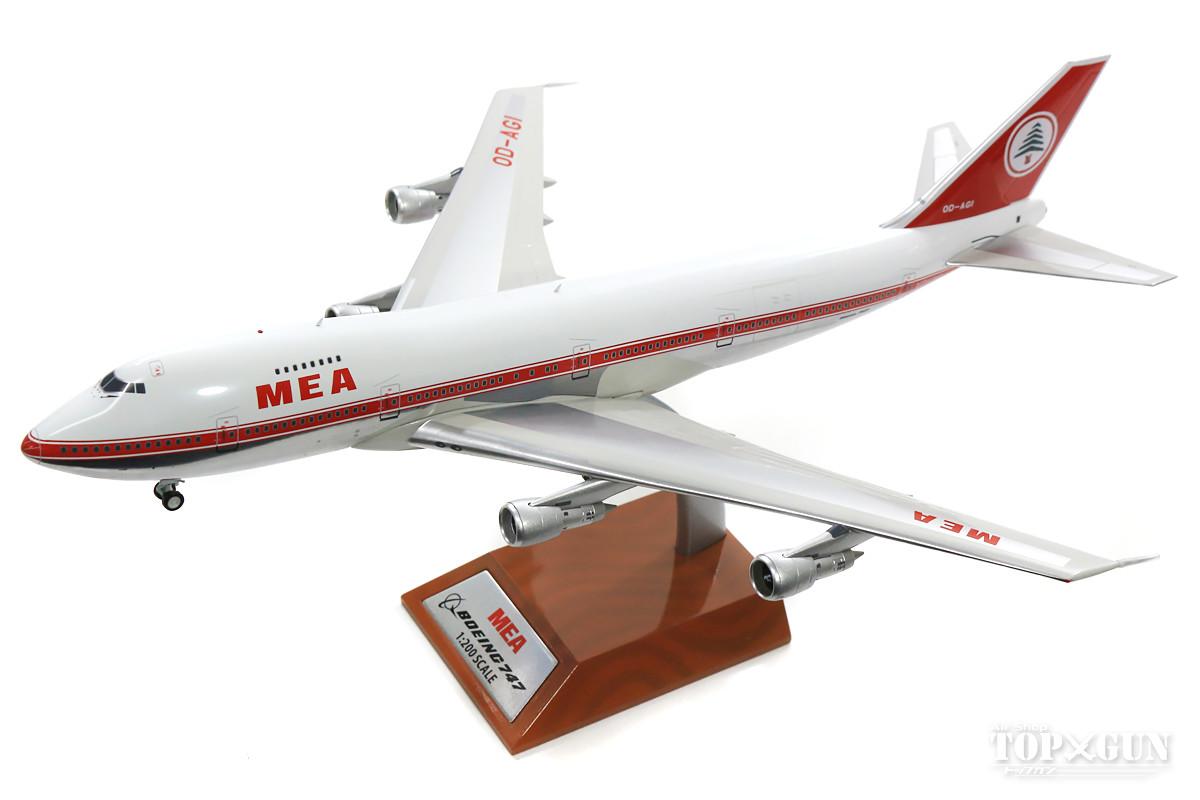 ボーイング 747-200B MEAミドルイースト航空 70年代 (スタンド付属) OD-AGH 1/200 ※金属製 2018年2月25日発売 InFlight200/インフライト200飛行機/模型/完成品 [IF7420618P]