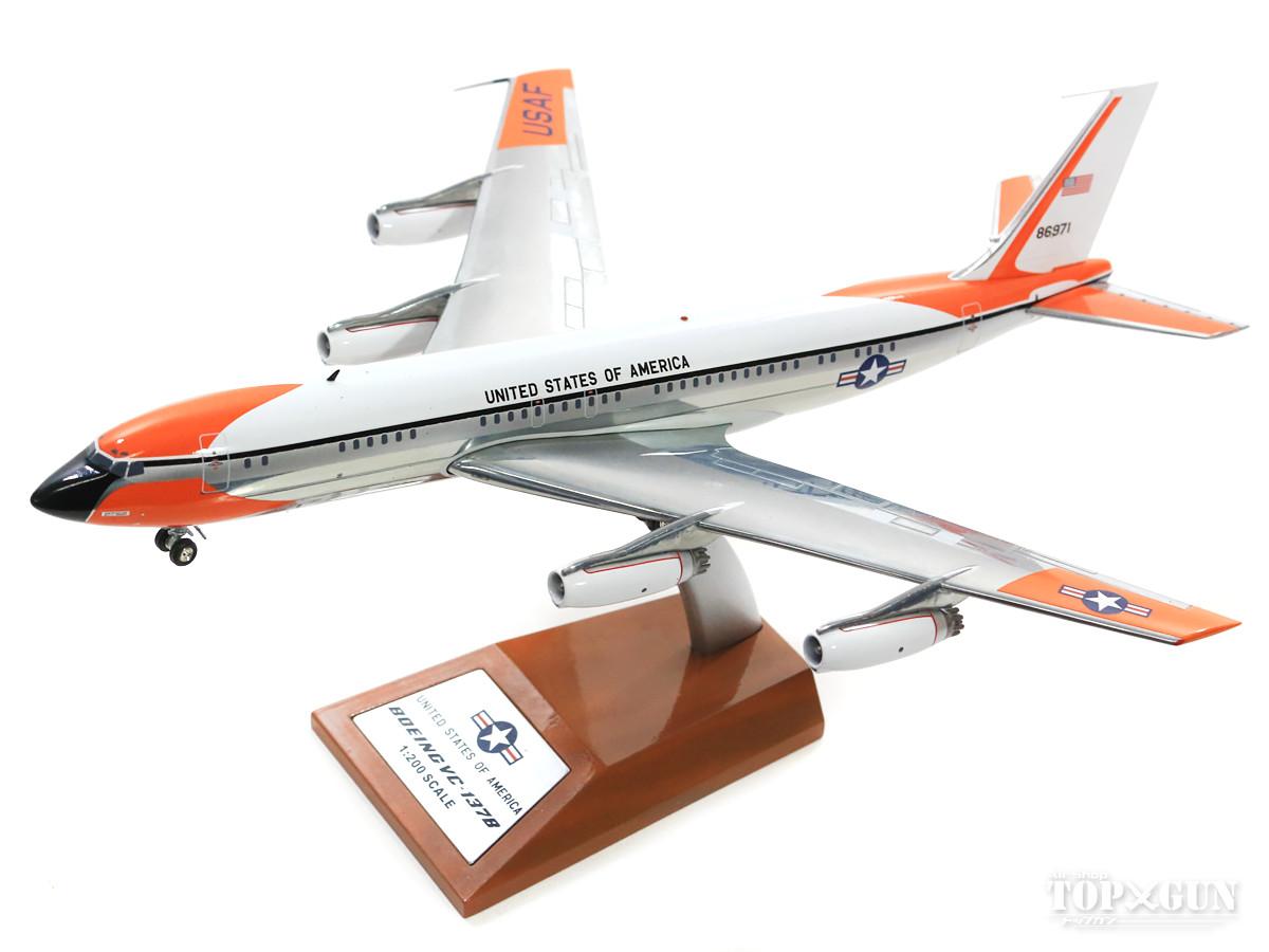 ボーイング VC-137B (707-153B) アメリカ空軍 60年代 ポリッシュ仕上 #58-6971 (スタンド付属) 1/200 ※金属製 2018年4月21日発売 InFlight200/インフライト200飛行機/模型/完成品 [IFAF1701001P]