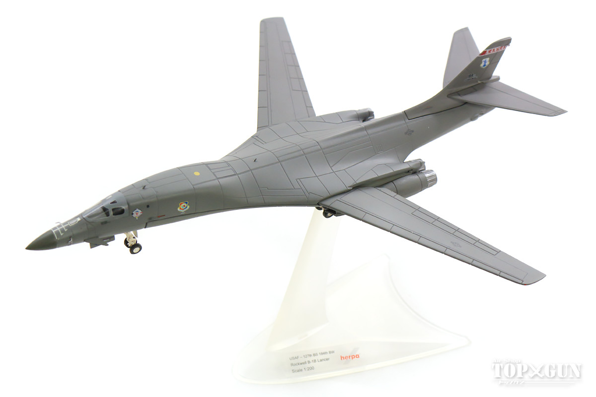 B-1B アメリカ空軍 カンザス州空軍 第184爆撃航空団 第127爆撃飛行隊 00年代 マッコーネル基地 1/200 ※金属製 2019年3月13日発売 herpa/ヘルパウィングス飛行機/模型/完成品 [559263]
