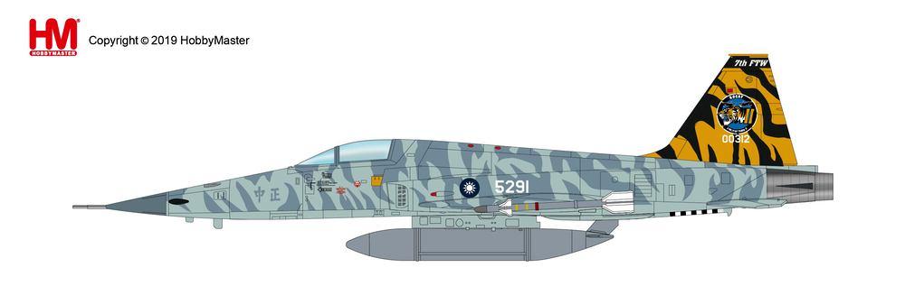 F-5E 中華民国空軍(台湾空軍) 第7飛行訓練聯隊 特別塗装 台東志航基地 18年 #00312/#5291 1/72 2019年2月27日発売Hobby Master/ホビーマスター飛行機/模型/完成品 [HA3333]