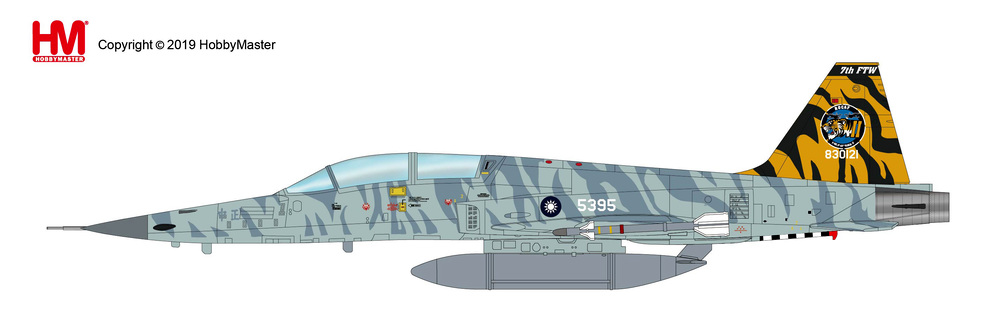 F-5E 中華民国空軍(台湾空軍) 第7飛行訓練聯隊 特別塗装 台東志航基地 18年 #830121/#5395 1/72 2019年2月27日発売Hobby Master/ホビーマスター飛行機/模型/完成品 [HA3334]