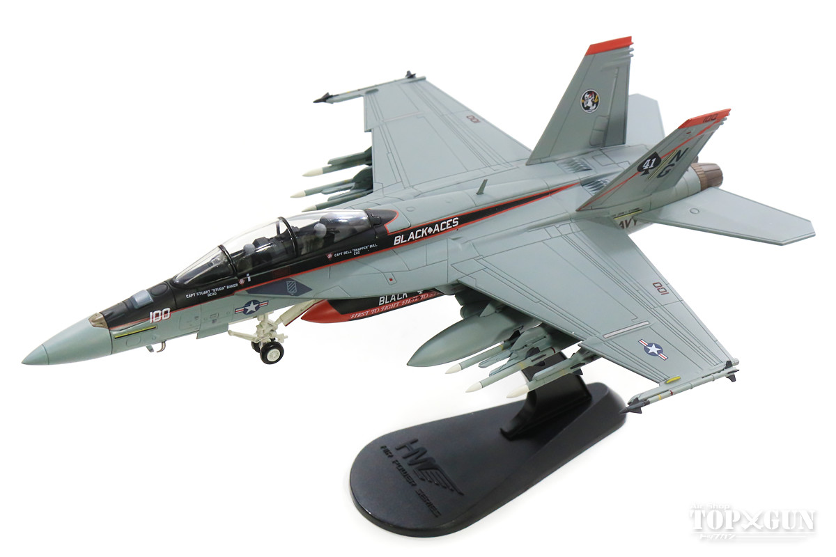 F/A-18F(複座型) アメリカ海軍 第41戦闘攻撃飛行隊 「ブラックエイセス」 航空団司令機 空母ジョン・C・ステニス搭載 12年 NG100/#166842 1/72 2019年3月15日発売Hobby Master/ホビーマスター飛行機/模型/完成品 [HA5111]