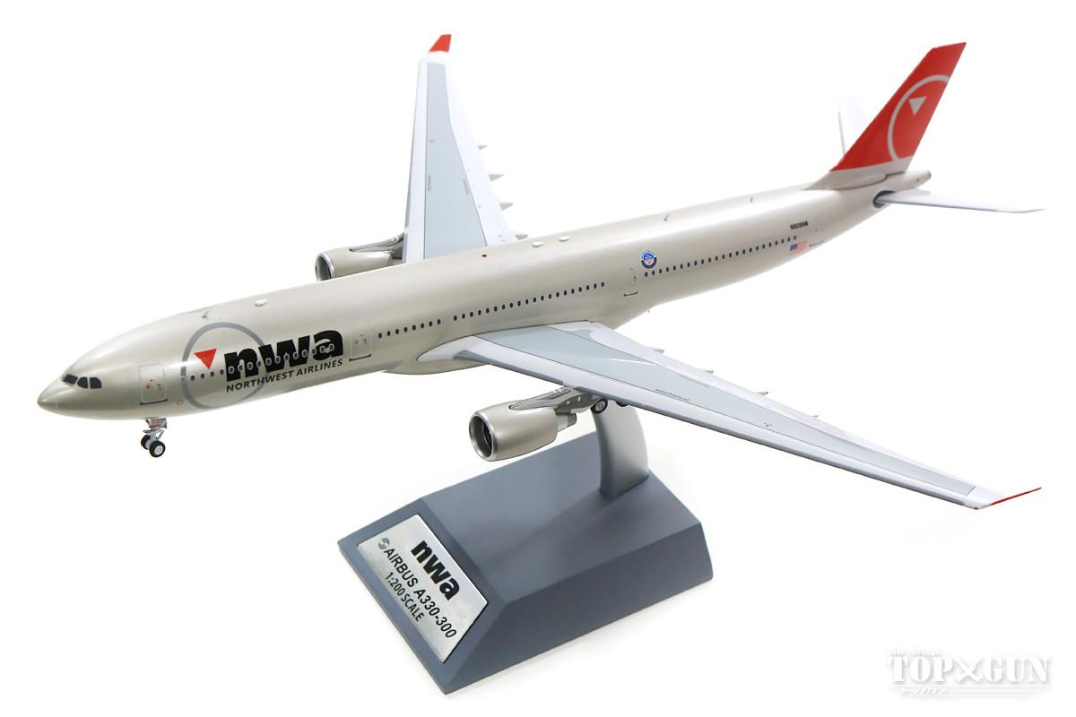 エアバス A330-300 ノースウエスト航空 N808NW (スタンド付属) 1/200 ※金属製 2019年3月3日発売 InFlight200/インフライト200 飛行機/模型/完成品 [IF333NW0918]
