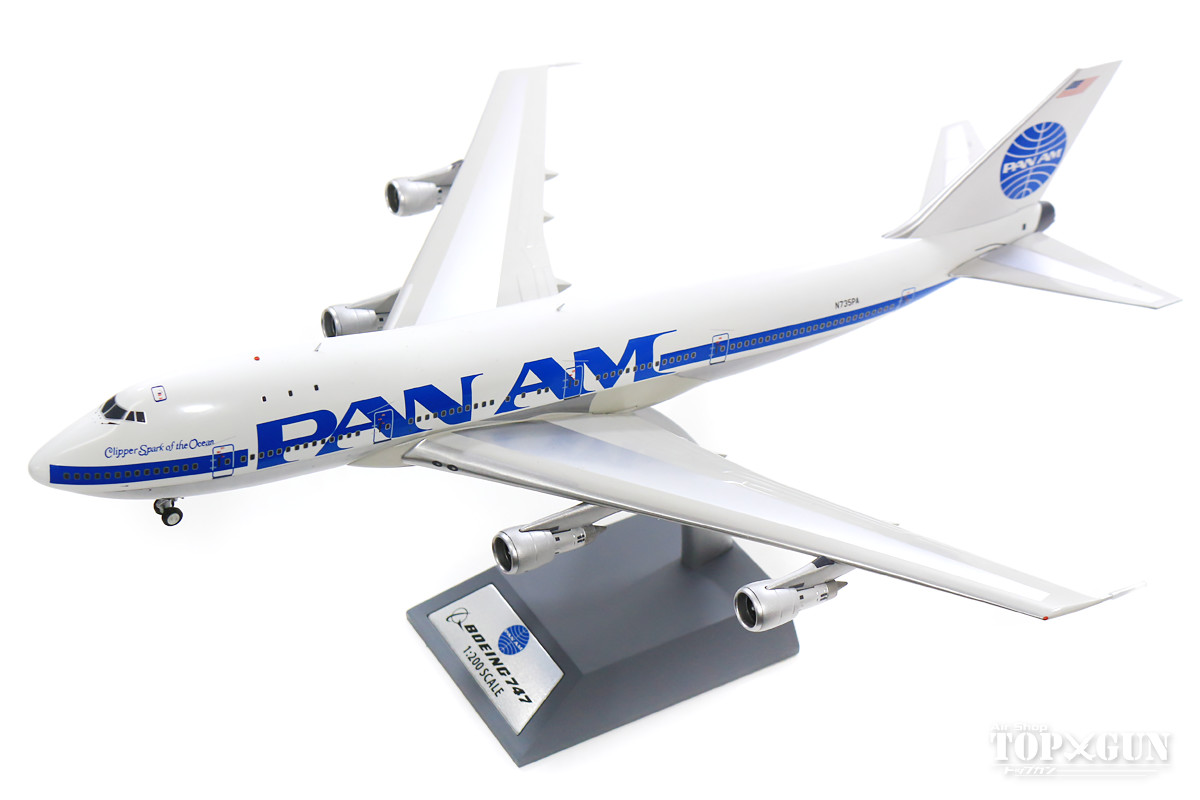 ボーイング 747-100 パンアメリカン航空 N735PA ハイブリッド塗装機 (スタンド付属) 1/200 ※金属製 2019年3月3日発売 InFlight200/インフライト200飛行機/模型/完成品 [IF741PAA0918]