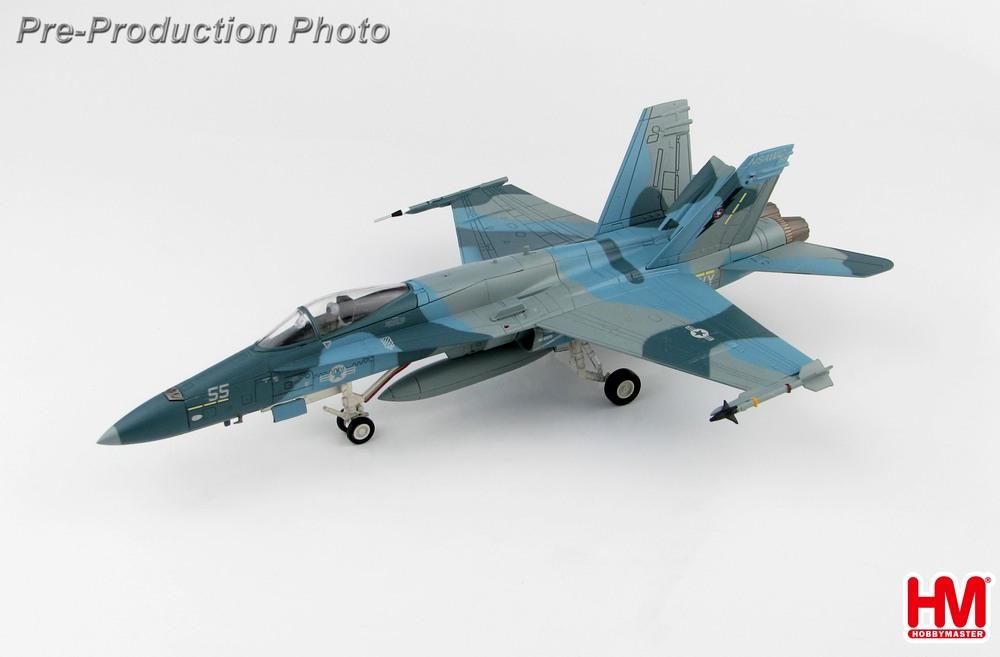 F/A-18C アメリカ海軍 攻撃航空戦センター 「TOP GUN」 迷彩 ファロン基地・ネバダ州 04-06年 #162875/#55 1/72 2019年5月17日発売Hobby Master/ホビーマスター飛行機/模型/完成品 [HA3544]
