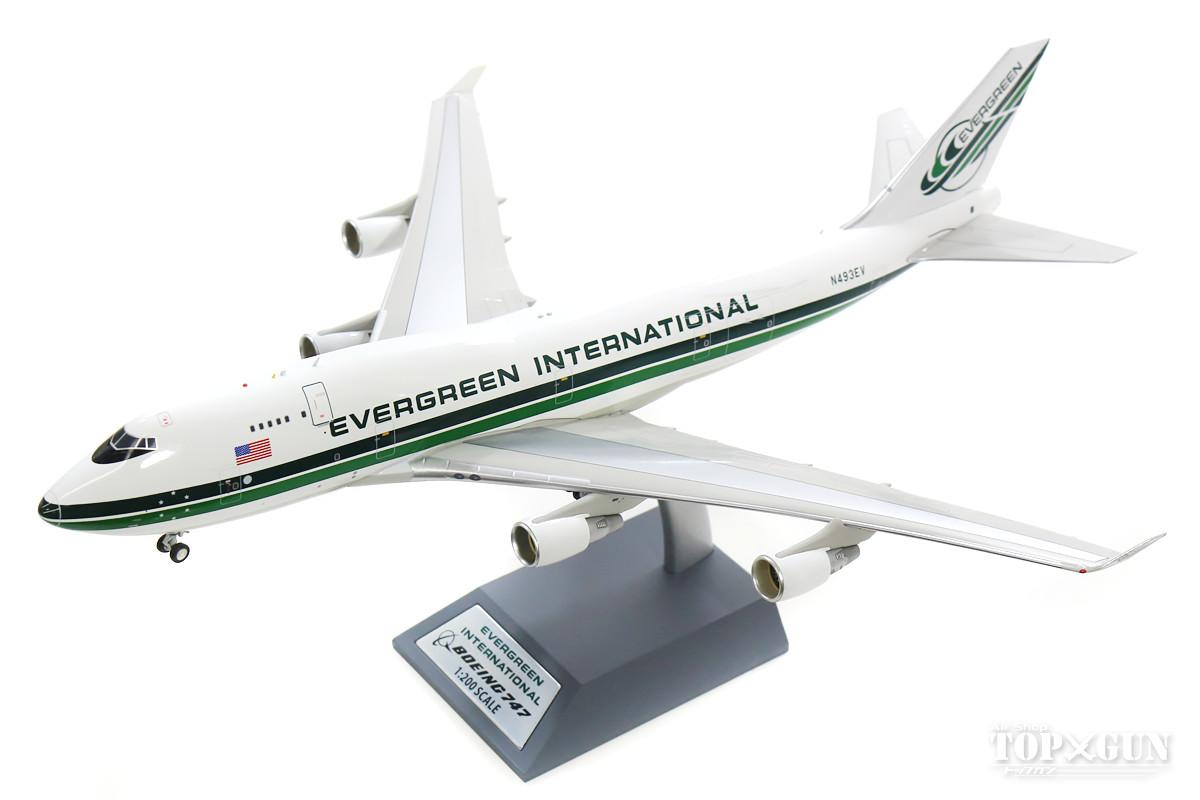ボーイング 747-400 エバーグリーン航空 N493EV (スタンド付属) 1/200 ※金属製 2019年5月18日発売 InFlight200/インフライト200飛行機/模型/完成品 [IF744EZ0119]