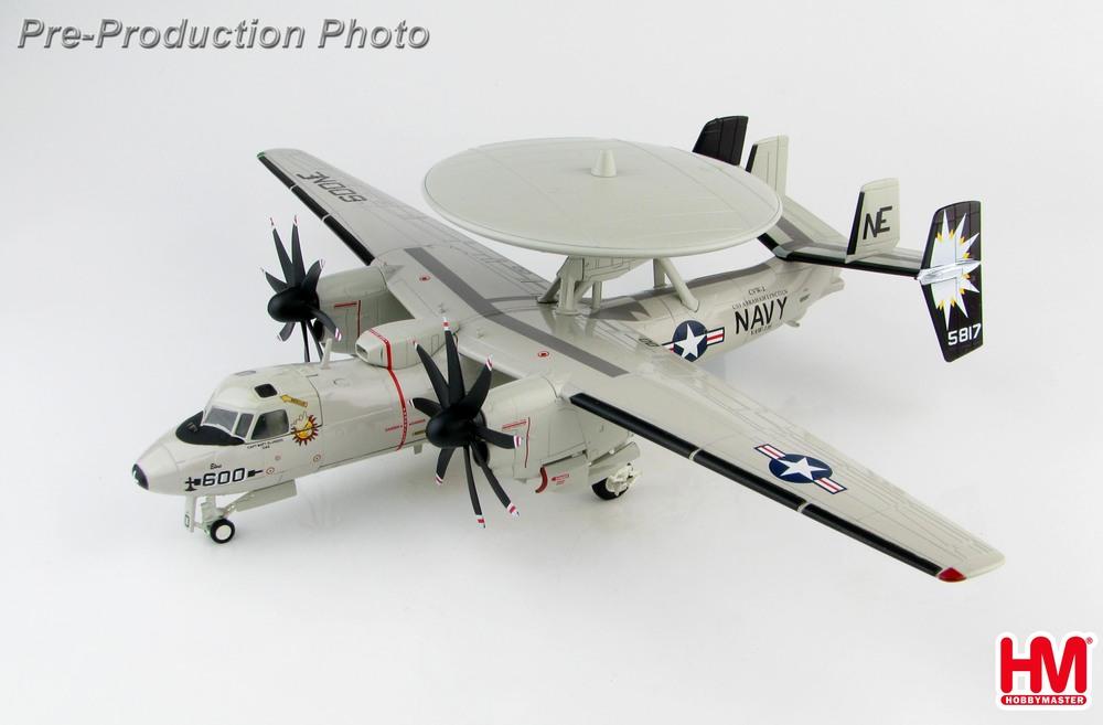 E-2Cホークアイ2000 アメリカ海軍 第116早期警戒飛行隊 「サン・キングズ」 特別塗装 空母エイブラハム・リンカーン搭載 07年 #600/#165817 1/72 2019年11月27日発売 Hobby Master/ホビーマスター飛行機/模型/完成品 [HA4812]