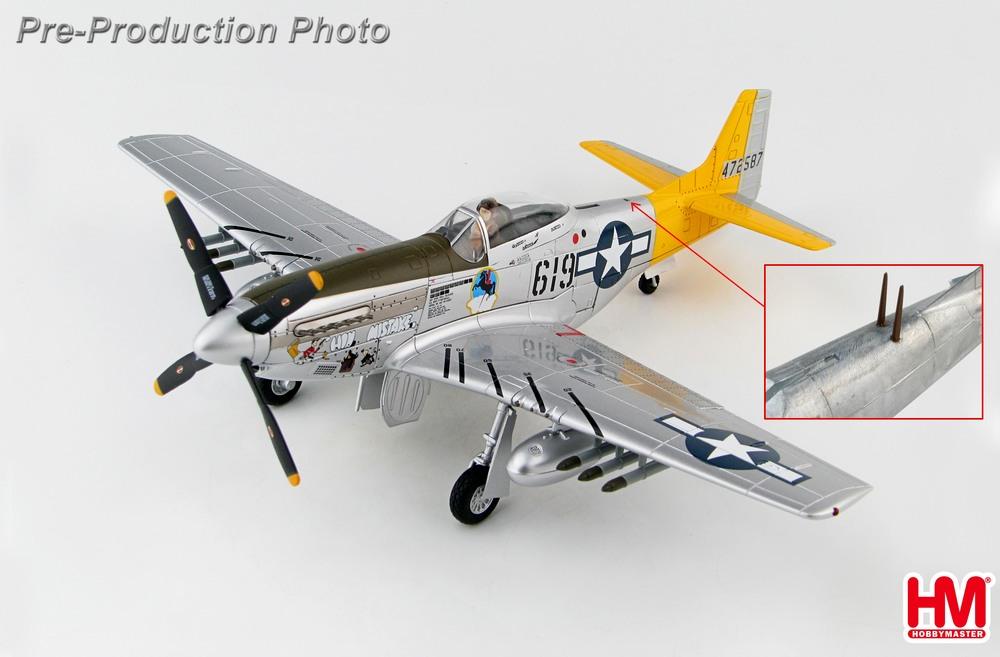 P-51D アメリカ陸軍航空軍 第506戦闘航空群 第462戦闘飛行隊 ウィリアム・エバーソール中尉機 硫黄島 45年 #619/#472587 1/48 2019年11月6日発売 Hobby Master/ホビーマスター飛行機/模型/完成品 [HA7744B]