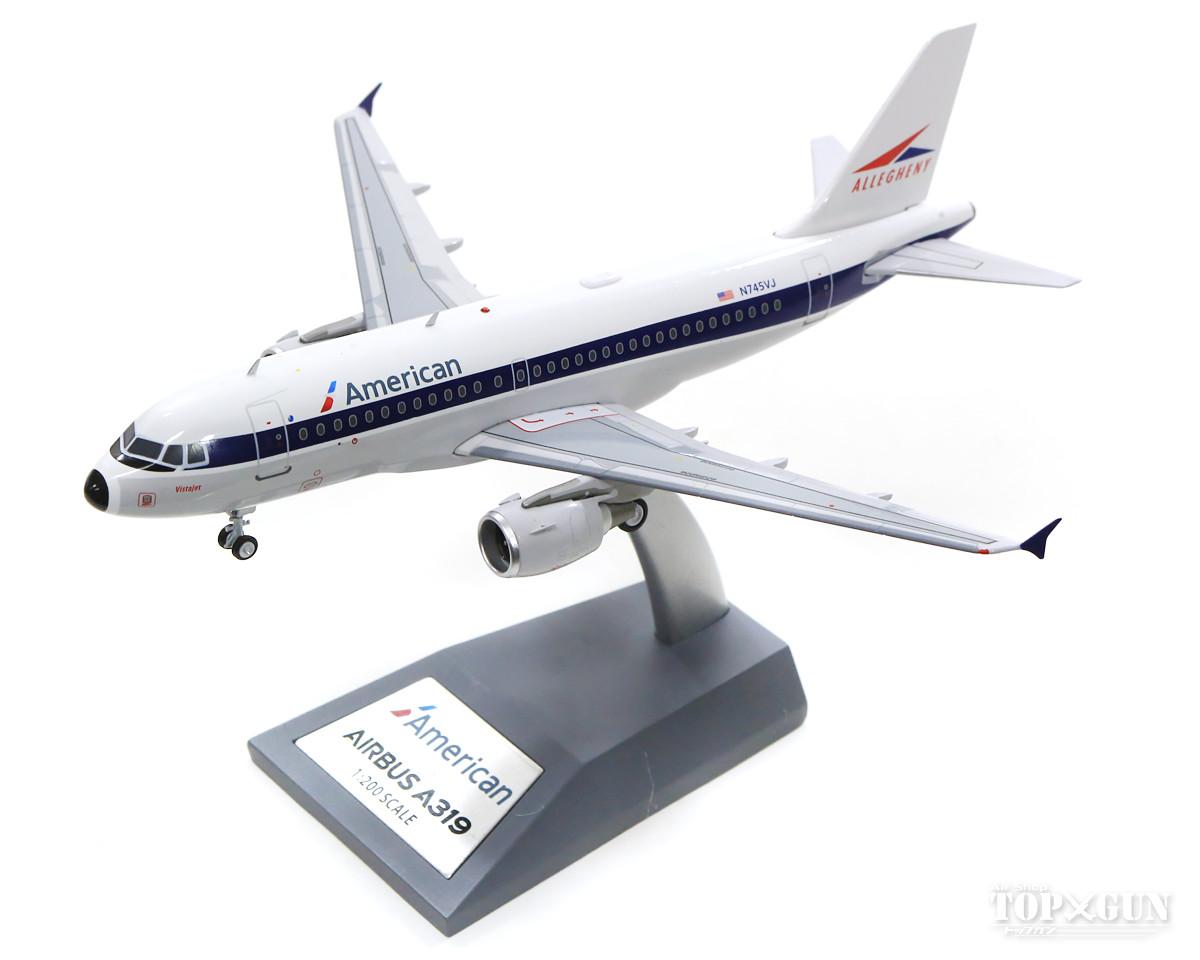 エアバス A319 アメリカン航空(アレゲニー航空) N749VJ with stand 1/200 ※金属製 2019年12月28日発売 InFlight200/インフライト200飛行機/模型/完成品 [IF319AA0519]