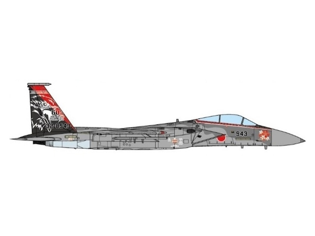 F-15J 航空自衛隊 第201飛行隊 特別塗装「空自創設60周年」 14年 千歳基地 #32-8943 1/72 2018年11月3日発売JCWINGS飛行機/模型/完成品 [JCW-72-F15-006]